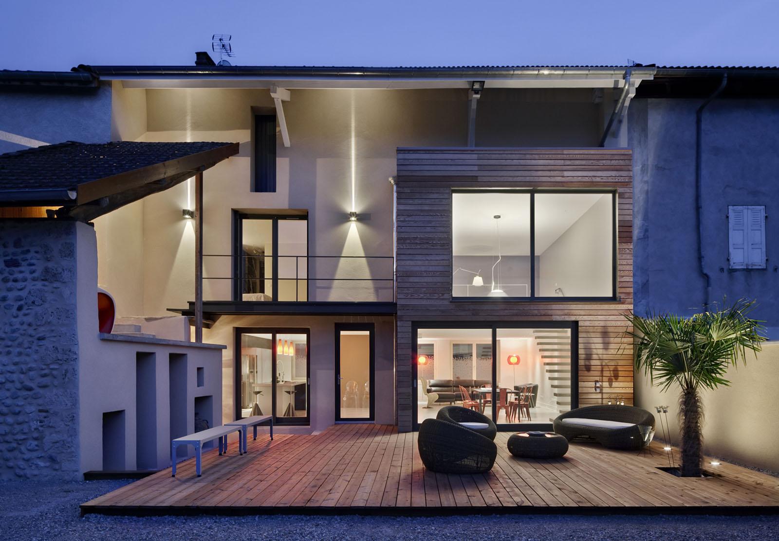 lautrefabrique architectes maison de village. Black Bedroom Furniture Sets. Home Design Ideas