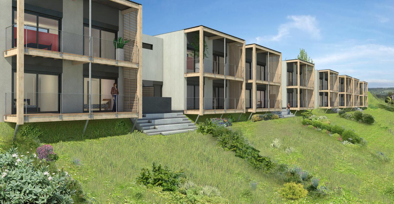 lautrefabrique architectes 8 maisons en bande. Black Bedroom Furniture Sets. Home Design Ideas